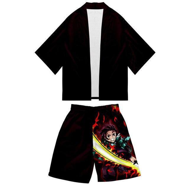 kimono demon slayer tenue noir 43