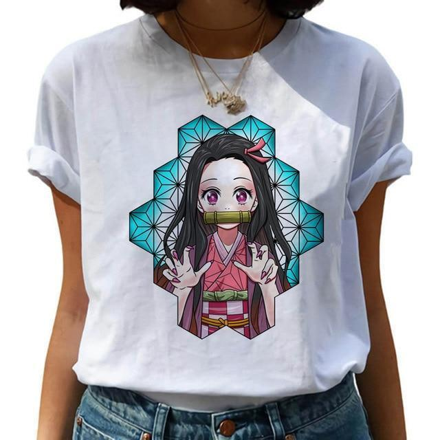 t shirt femme demon slayer nezuko chibi   159