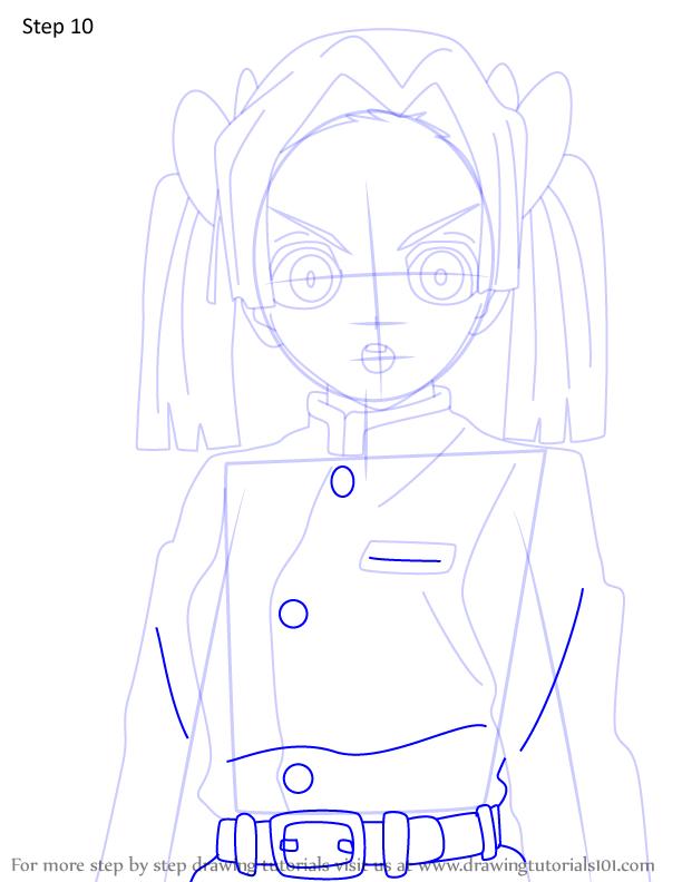 Comment dessiner Aoi Kanzaki Demon Slayer 10