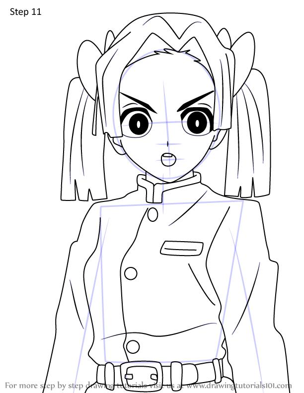 Comment dessiner Aoi Kanzaki Demon Slayer 11