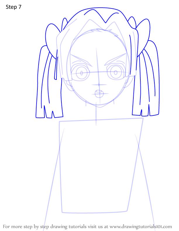 Comment dessiner Aoi Kanzaki Demon Slayer 7