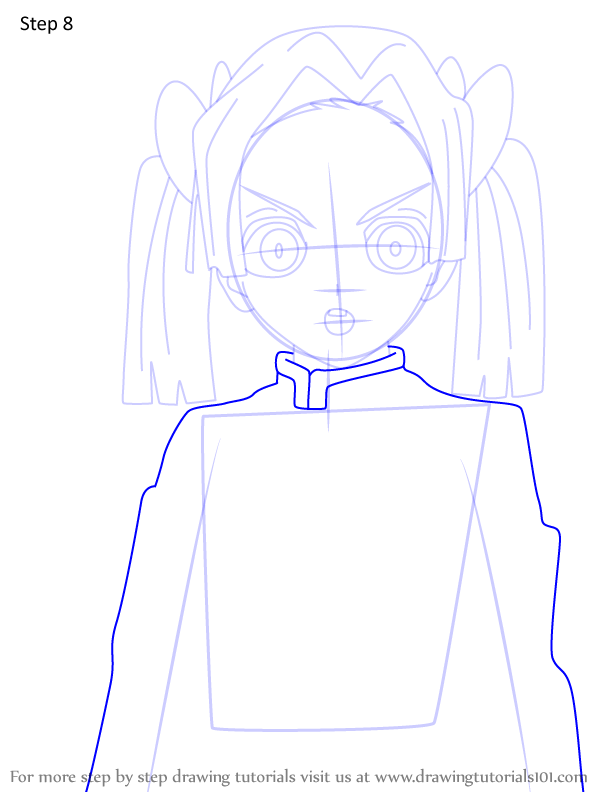 Comment dessiner Aoi Kanzaki Demon Slayer 8