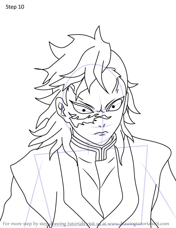 Comment dessiner Genya Shinazugawa Demon Slayer 10