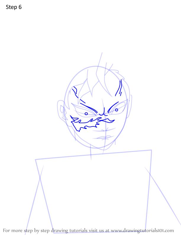 Comment dessiner Genya Shinazugawa Demon Slayer 6