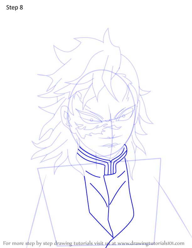 Comment dessiner Genya Shinazugawa Demon Slayer 8