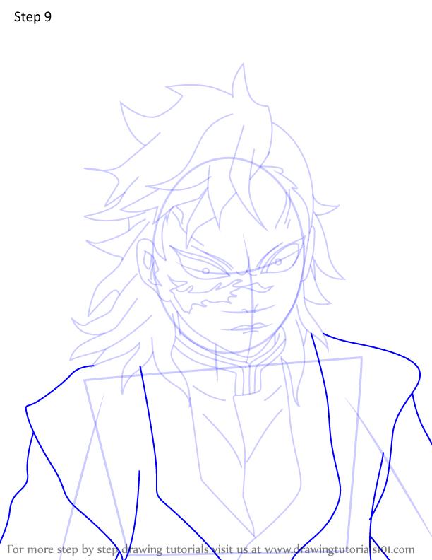 Comment dessiner Genya Shinazugawa Demon Slayer 9