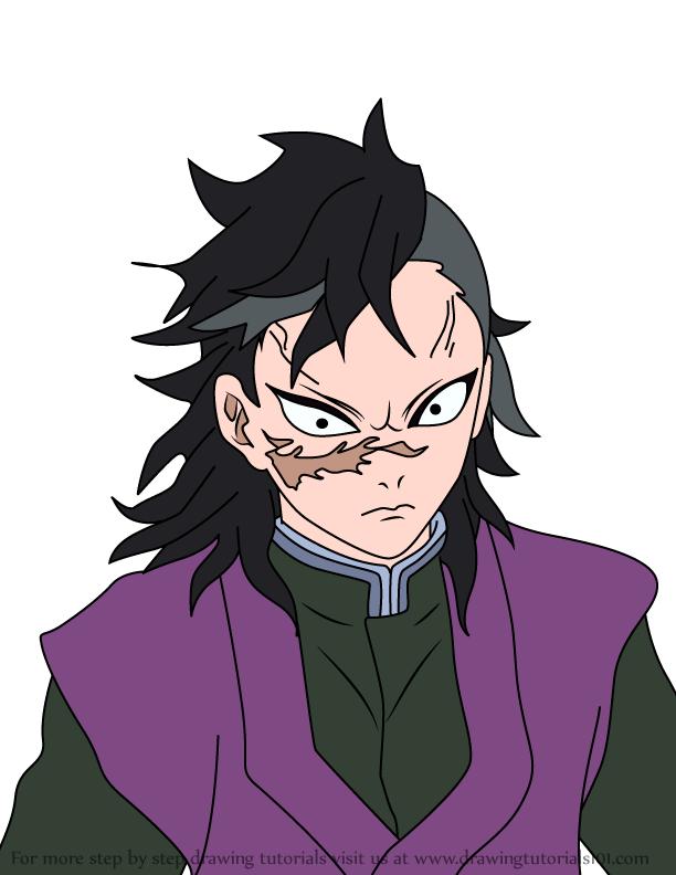 Comment dessiner Genya Shinazugawa Demon Slayer
