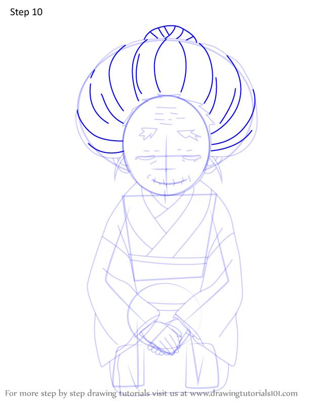 Comment dessiner Hisa Demon Slayer 10