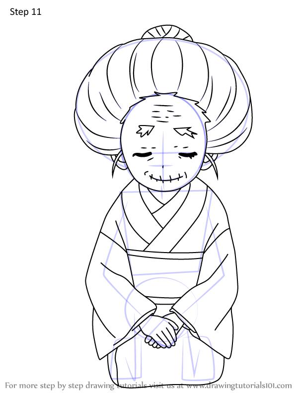Comment dessiner Hisa Demon Slayer 11