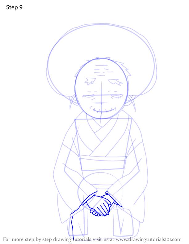 Comment dessiner Hisa Demon Slayer 9