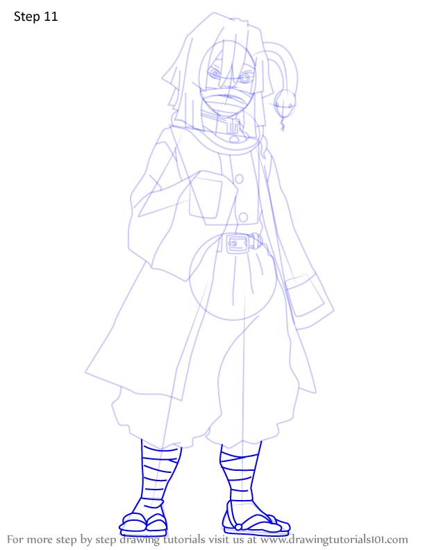 Comment dessiner Iguro Obanai Demon Slayer 11
