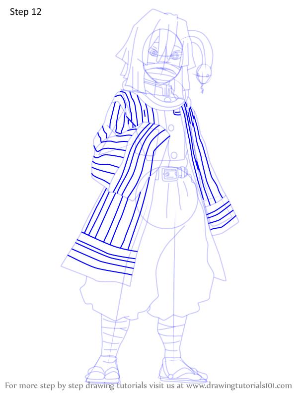 Comment dessiner Iguro Obanai Demon Slayer 12