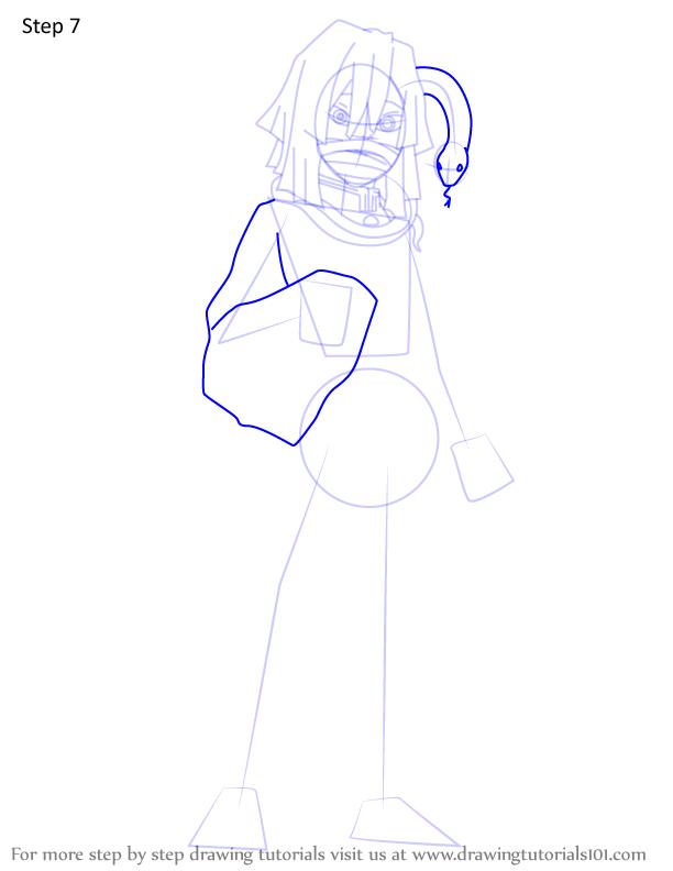 Comment dessiner Iguro Obanai Demon Slayer 7