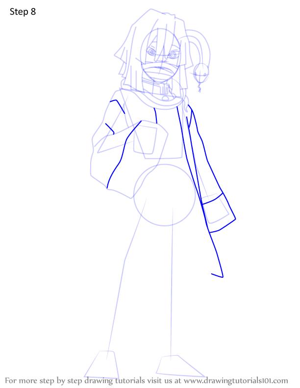 Comment dessiner Iguro Obanai Demon Slayer 8