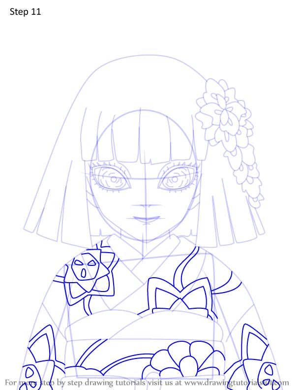 Comment dessiner Kiriya Ubuyashiki Demon Slayer 11