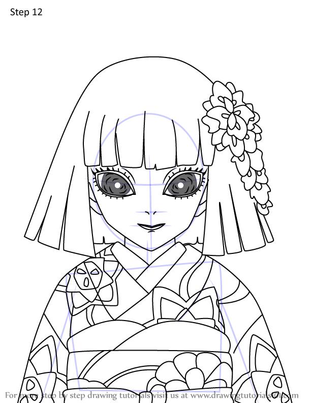 Comment dessiner Kiriya Ubuyashiki Demon Slayer 12