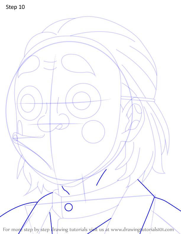 Comment dessiner Kozo Kanamori Demon Slayer 10