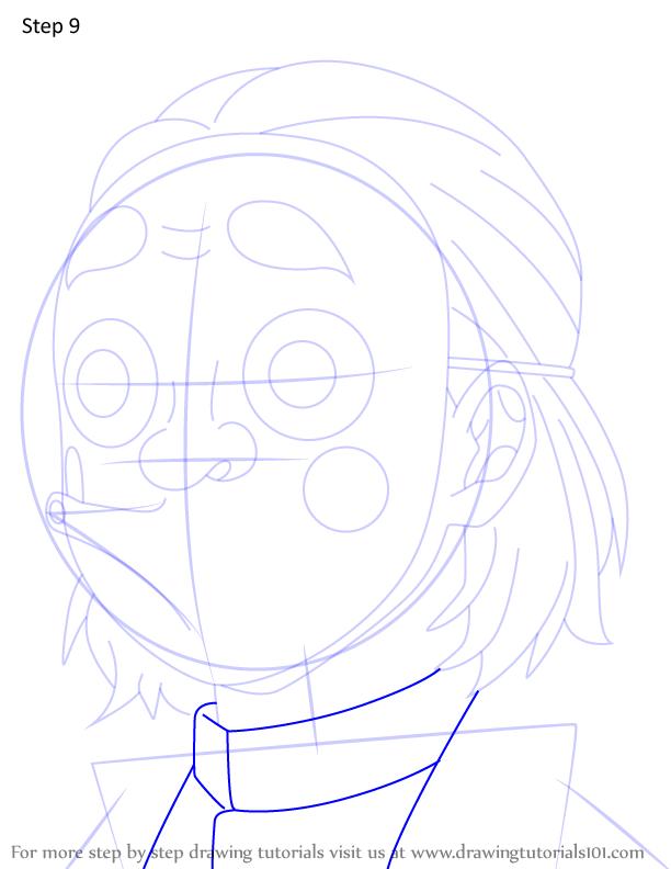 Comment dessiner Kozo Kanamori Demon Slayer 9