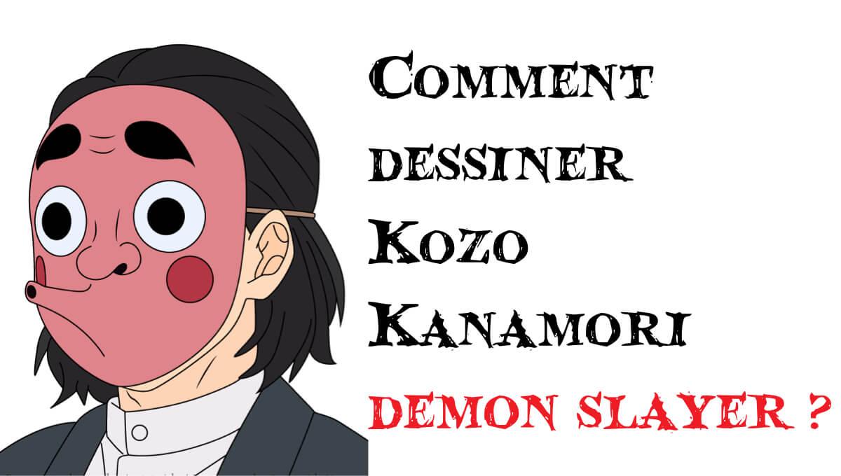 Comment dessiner Kozo Kanamori demon slayer -