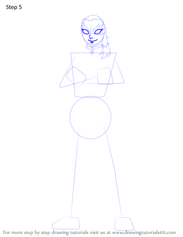 Comment dessiner Kyojuro Rengoku Demon 5