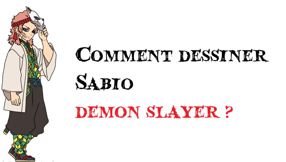 Comment dessiner Sabio demon slayer -