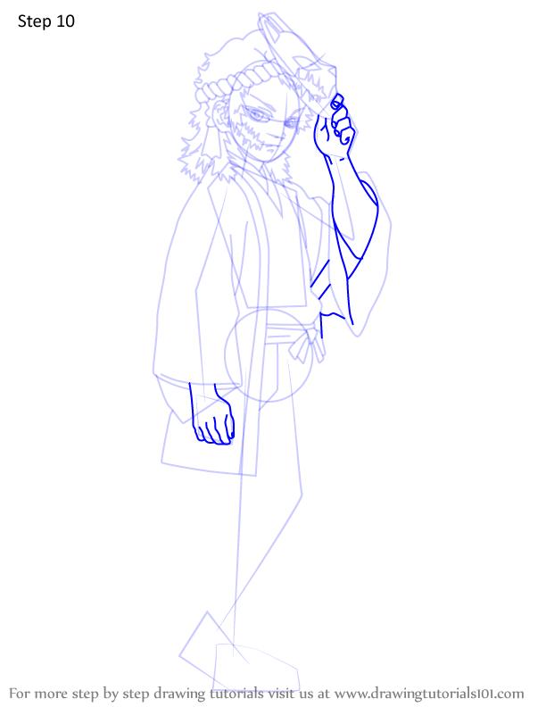 Comment dessiner Sabito Demon Slayer 10