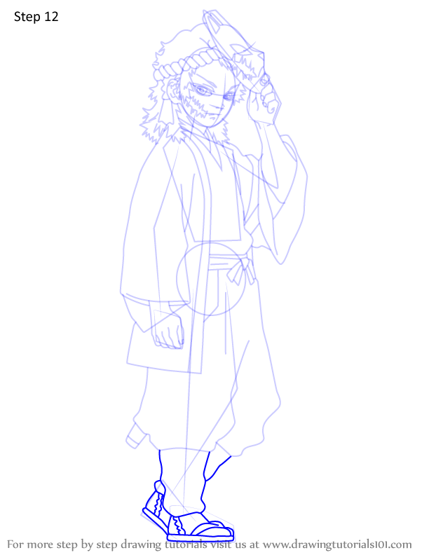 Comment dessiner Sabito Demon Slayer 12