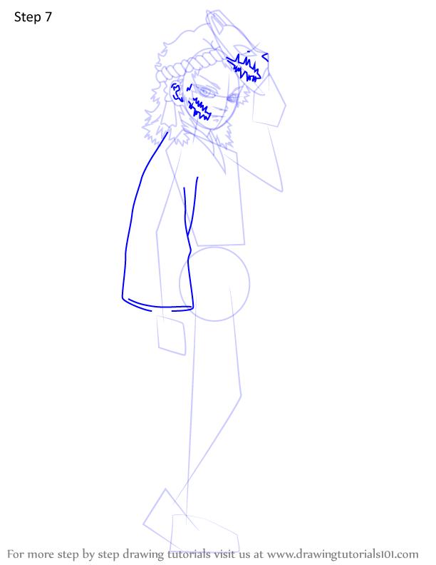 Comment dessiner Sabito Demon Slayer 7
