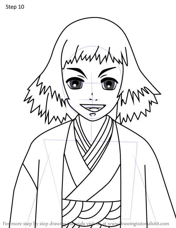 Comment dessiner Susamaru Demon Slayer 10