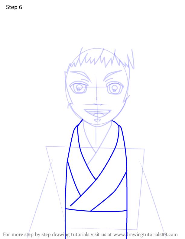 Comment dessiner Susamaru Demon Slayer 6