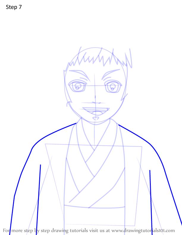 Comment dessiner Susamaru Demon Slayer 7