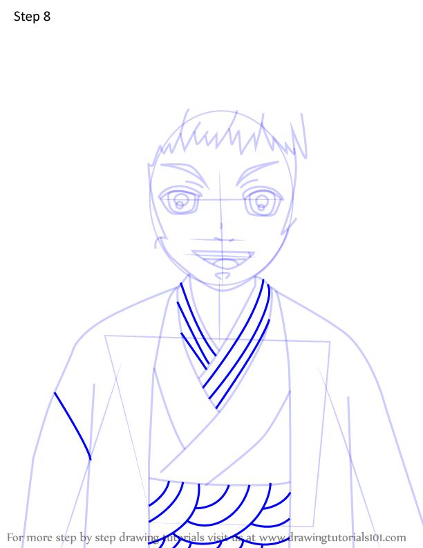 Comment dessiner Susamaru Demon Slayer 8