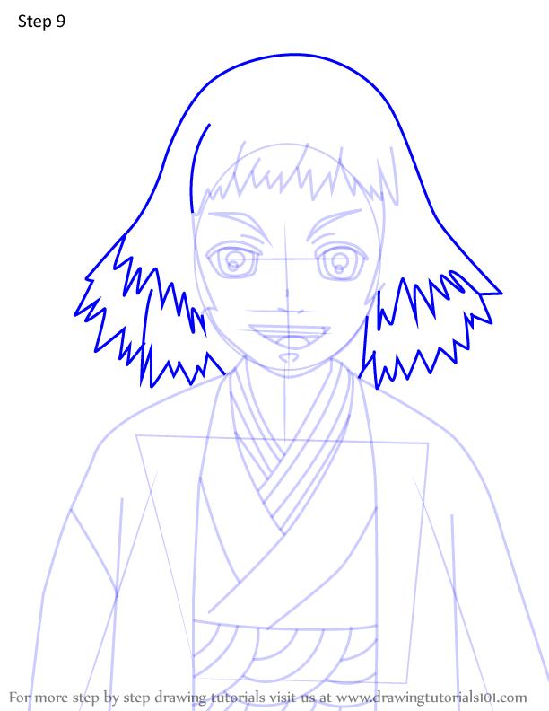 Comment dessiner Susamaru Demon Slayer 9