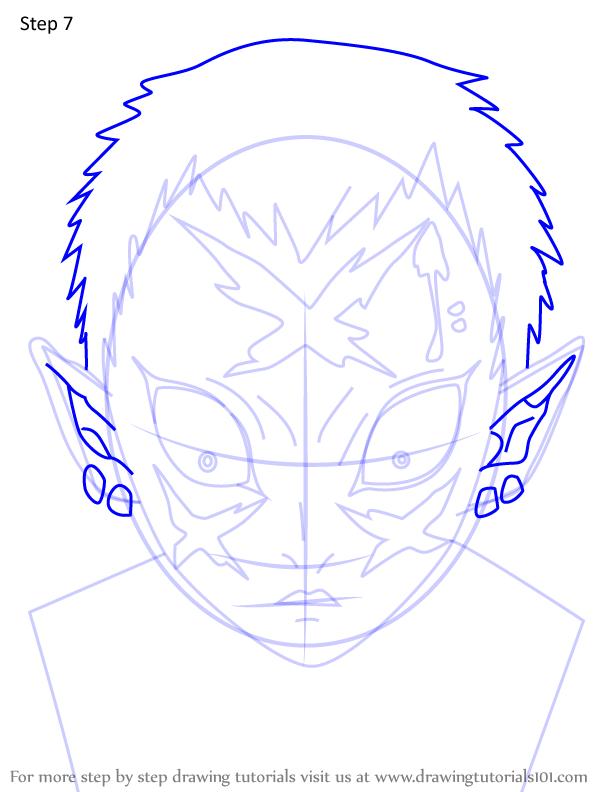 Comment dessiner Wakuraba Demon Slayer 7