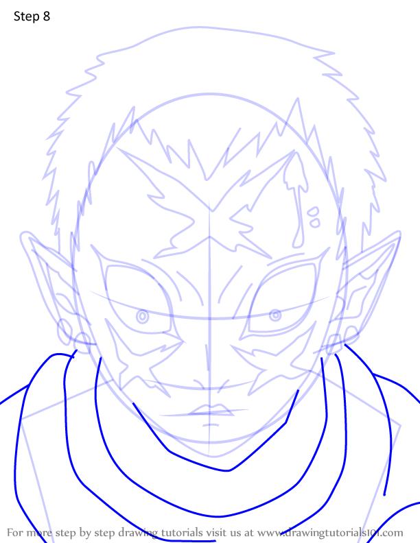 Comment dessiner Wakuraba Demon Slayer 8
