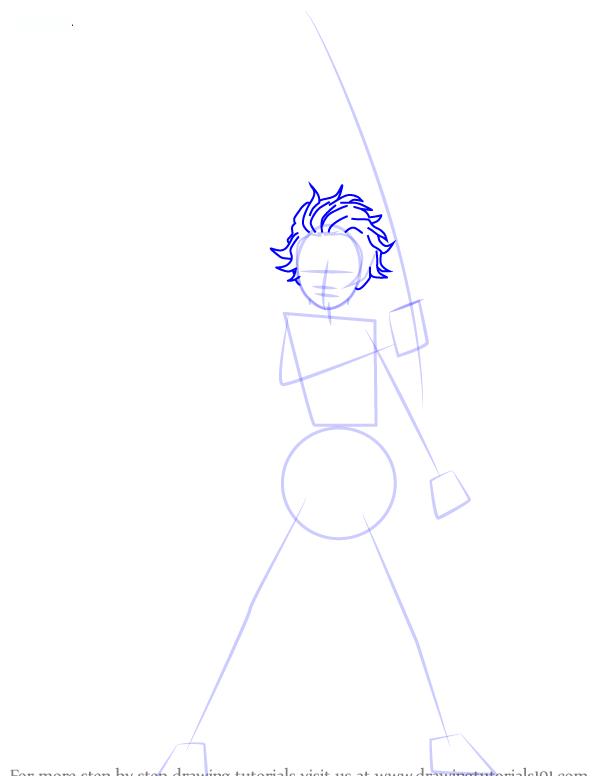 Comment dessiner tanjiro kamado demonslayer 4 1