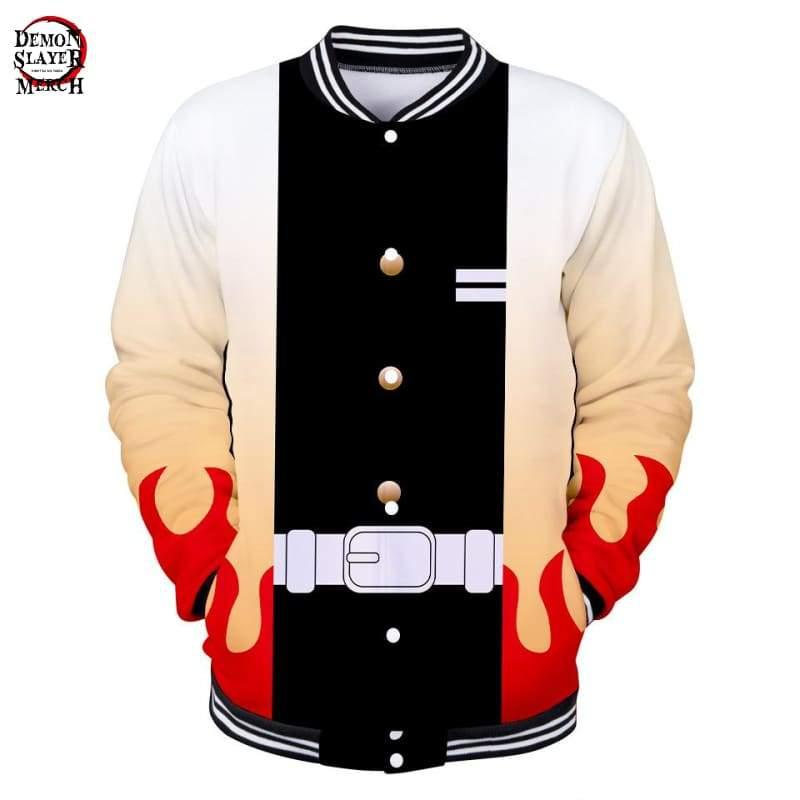 demon slayer rengoku baseball jacket demon slayer merch 247
