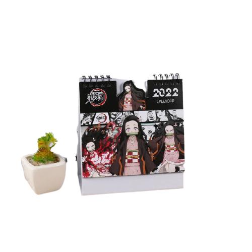 Calendrier imprim Demon Slayer accessoires de bureau mignon dessin anim Agatsuma Zenitsu Kamado Nezuko 2022.jpg 640x640 3 removebg preview