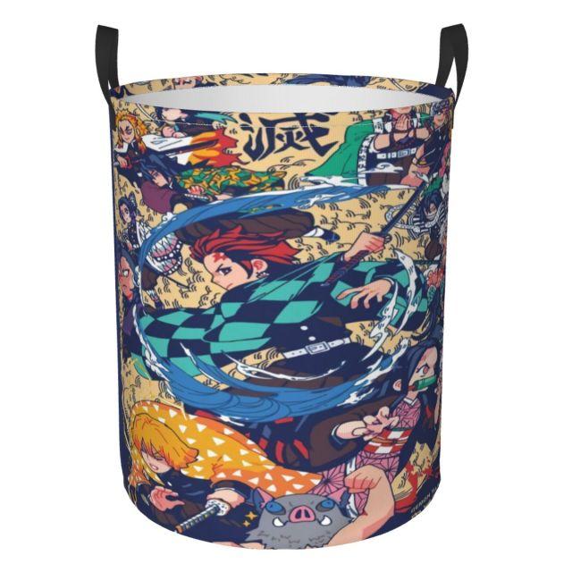 Japan Demon Slayer kosz na pranie sk adany materia wiadro do prania wodoodporny pojemnik na k 1.jpg 640x640 1