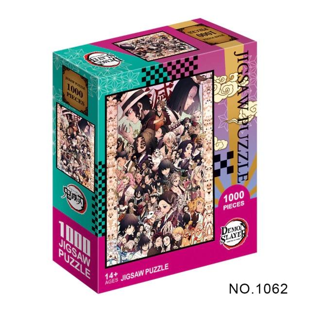 Puzzle en papier Kimetsu No Yaiba s rie de dessins anim s Demon Slayer pour adultes 1.jpg 640x640 1 1