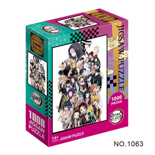 Puzzle en papier Kimetsu No Yaiba s rie de dessins anim s Demon Slayer pour adultes 1.jpg 640x640 2 1