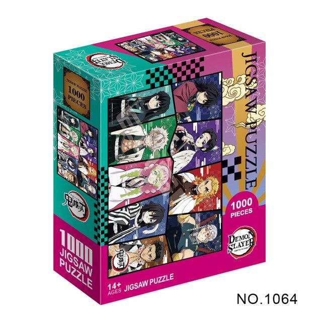 Puzzle en papier Kimetsu No Yaiba s rie de dessins anim s Demon Slayer pour adultes.jpg 640x640 1