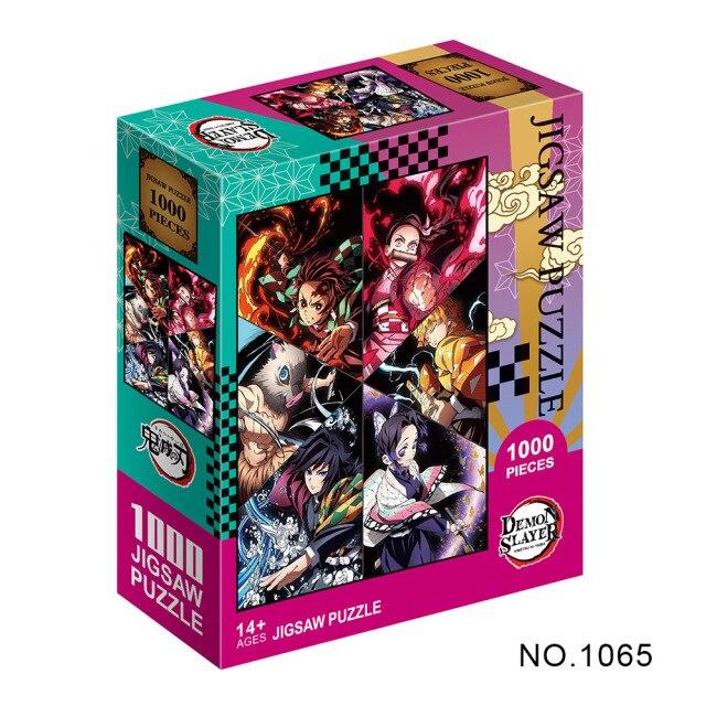 Puzzle en papier Kimetsu No Yaiba s rie de dessins anim s Demon Slayer pour adultes.jpg 640x640 2