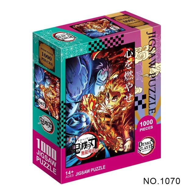 Puzzle en papier Kimetsu No Yaiba s rie de dessins anim s Demon Slayer pour adultes.jpg 640x640 3