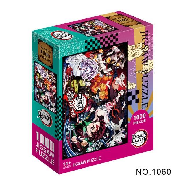Puzzle en papier Kimetsu No Yaiba s rie de dessins anim s Demon Slayer pour