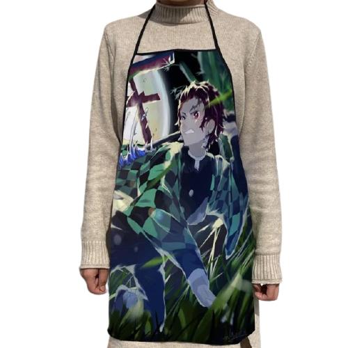 Tablier de cuisine en tissu Oxford pour femmes nouvel arrivage motif Demon Slayer accessoires de cuisine.jpg 640x640 4 removebg preview